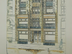 Store Building for S. E. Mayall, St. Paul, MN, 1888, Original Plan. J. Walter Stevens.