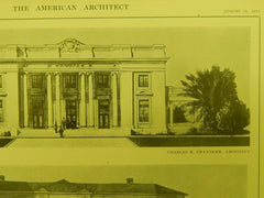North Dakota & Kansas Bldgs., Panama-Pacific Expo, San Francisco, CA, 1914, Original Plan. Chandler & Reimer.