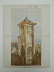 New Tower, St. Clement's Church, Bournemouth, England, 1891, Photogravure. Sedding.