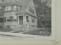 Two Houses on Peter Parley Road, Jamaica Plain, MA, 1902, Lithograph. J. C. Fowler and Junius H. Morse.