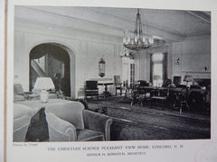 The Christian Science Pleasant View Home,Concord, NH, 1928,Lithograph. Bowditch.