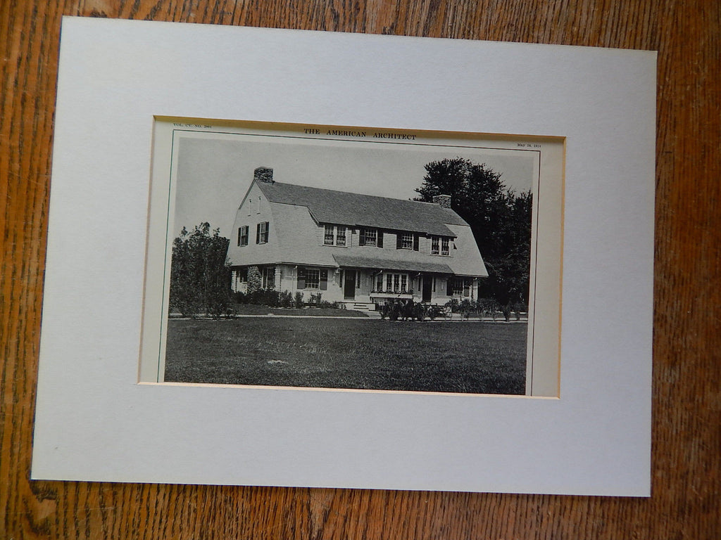 Gardener's and Chauffeur's Cottage, Estate of E. Kent Swift, Whitinsville, MA, 1914. Loring & Leland.