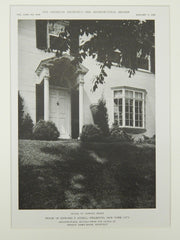 Terrace Front, House of Edward P. Schell, Fieldston, NY, 1922, Lithograph. Dwight James Baum.
