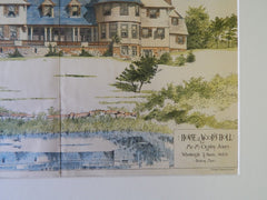 House for Mr. M Ogden Jones at Wood's Holl, MA, 1889, Original Plan. Wheelwright & Haven.