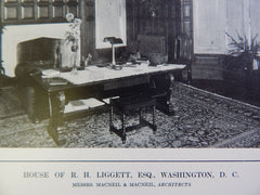 House of Liggett Living Room, Washington DC, 1914, Lithograph. MacNeil & MacNeil.