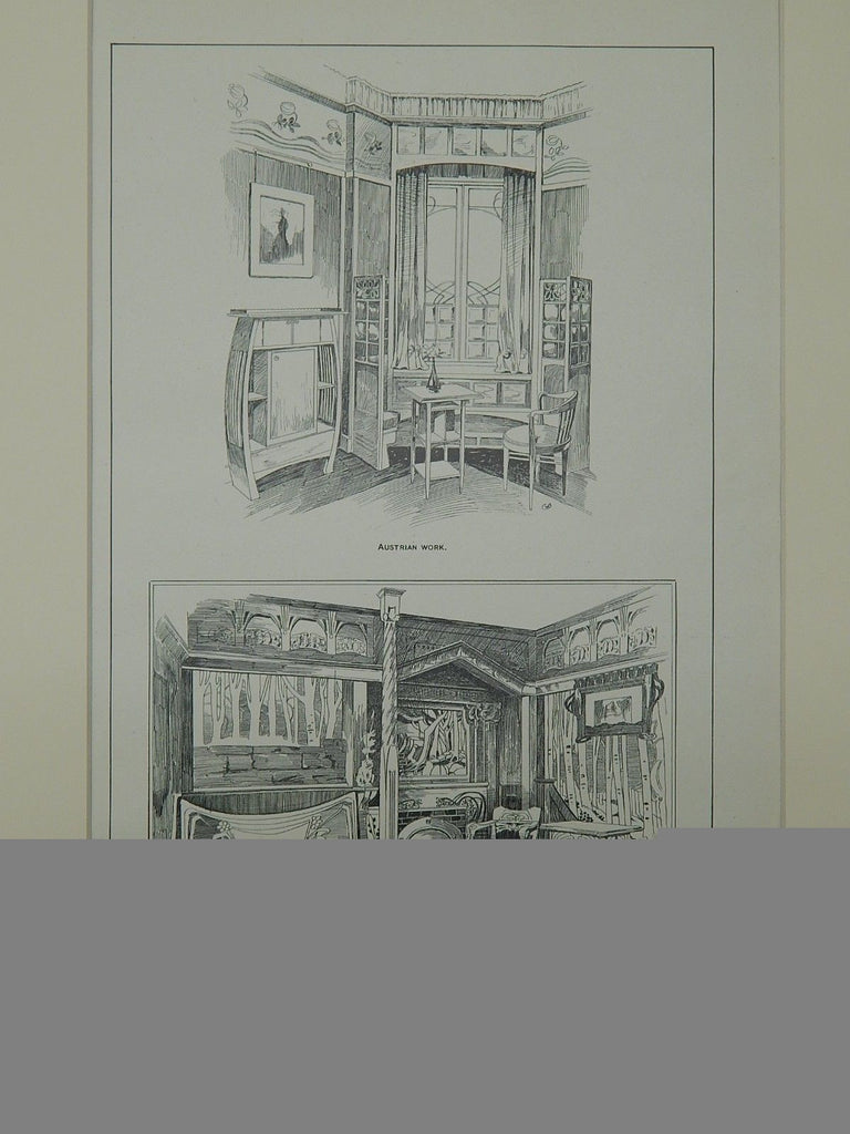 Austrian & German Furniture: Paris Exposition in Paris, France, 1901. Max Bodenheim