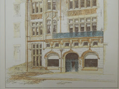 The Logan Offices for R. Pearsall Smith, Philadelphia, PA, 1888, Original Plan. Cope & Stewardson.