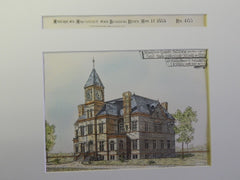 School & Chapel Bldg., CT State Industrial School for Girls, Middletown, CT, 1885.