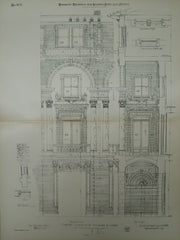 Entrance and Loggia, Jefferson Hotel, Richmond, VA, 1903, Original Plan. Carrere & Hastings.