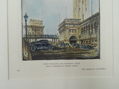 Ferry Building, San Francisco, CA, 1929, Original Plan.