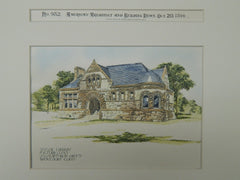 Taylor Library, Milford, CT, 1894, Original Plan. J. W. Northrup.
