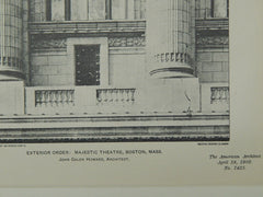 Exterior Order, Majestic Theatre, Boston, MA, 1903, Photogravure. Howard.