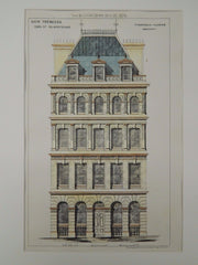 New Premises, Earl Street, Blackfriars, London, UK, 1874, Original Plan. T. Chatfield Clarke.