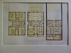 Plans of the Speyer School, Lawrence St., NY, NY, 1906, Original Plan. Josselyn.