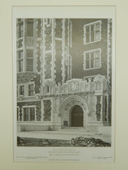 Base of Tower, College of the City of New York, NY, 1908, Lithograph. George B. Post & Sons.