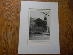 Construction View,Church of Heavenly Rest, NY, 1928,Lithograph. Mayers, Murray & Phillip.