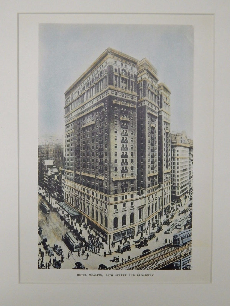 Hotel McAlpin, 34th Street & Broadway, New York, NY, 1929, Original Plan.