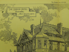 The Gordon Hotel, Boscombe, England, 1895, Original Plan. Dancaster & Taylor.