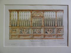Chapel Screen in Cathedral, Evreux, France, 1906, Original Plan.