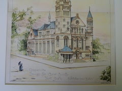 Competitive Design for Christ Church, NY, 1889, Original Plan. Robertson.