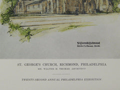 St. George's Church, Richmond, Philadelphia, PA, 1916, Original Plan. Walter H. Thomas.