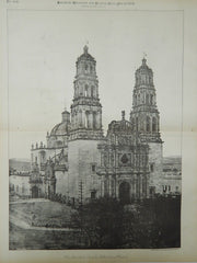The Parochial Church, Chihuahua, Mexico, 1885, Photogravure.