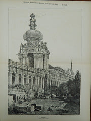 Dresden, Germany, Drawn by Samuel Prout, 1893, Original Plan.
