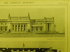 NY & NJ Buildings, Panama-Pacific Exposition, San Francisco, CA, 1914, Original Plan. Myers & Drew.