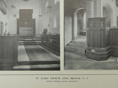 St. James Church, #2, Long Branch, NJ, 1914, Lithograph. Brazer & Robb.
