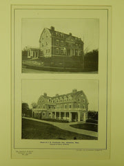 House of J. B. Westbrook, Esq., Brookline, MA, 1904, Lithograph. Chapman & Frazer.