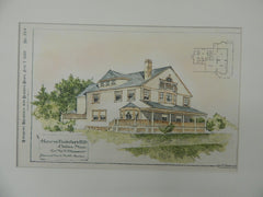 House for Mr.A.T.Hunnewell,Powderhorn Hill, Chelsea, MA, 1889, Original Plan. Rodman & Norris.