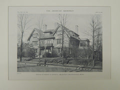 Exterior, House of Edwin H. Hewitt, Minneapolis, MN, 1918, Lithograph. Edwin H. Hewitt.