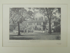 View from Lawn, House of Jules Breuchaud, Park Hill, NY, 1904, Lithograph. Warren, Smith & Biscoe.