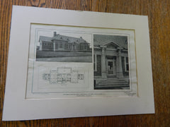 Childrens Hospital For St. Johns Guild, New Dorp, Staten Island, NY,1901,Lithograph. Walker & Morris.