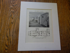 House of Mr. Franklin A. Snow, Interior, Brookline,MA,1914,Lithograph. B. Proctor, Jr.