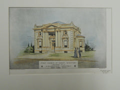First Church of Christ, Scientist, Orange, NJ, 1901. Original Plan. Comstock.