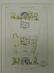 House of Conyers Button, Chestnut Hill, PA, 1929. Original Plan. McGoodwin.