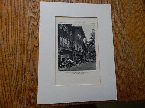 Copy of House of Charles E. Ladd,#2,  Carlton, OR, 1918,Lithograph. Lawrence & Holford.