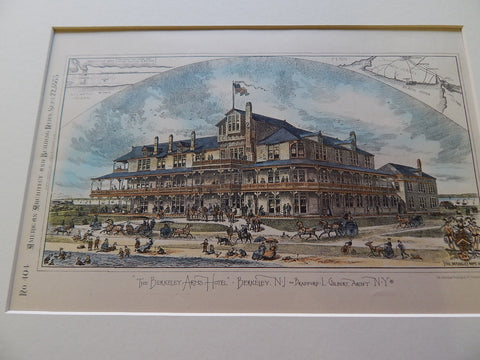 Berkeley Arms Hotel, Berkeley, NJ, 1883, Original Plan. Bradford L. Gilbert.