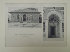 Entrance, Public Library, Littleton, CO, 1918, Lithograph. J.B. Benedict.