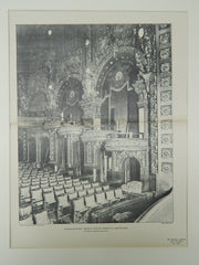 Proscenium Boxes, Majestic Theatre, Tremont St., Boston, MA, 1903, Photogravure. Howard