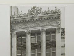 Store of Chandler & Co., Tremont Street, Boston, MA, 1906, Lithograph. Peabody & Stearns.
