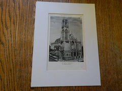 St. Itas Church, Chicago, IL, 1928, Lithograph. H.J. Schlacks.