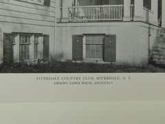 Riverdale Country Club, Riverdale, NY, 1921, Lithograph. Dwight James Baum.