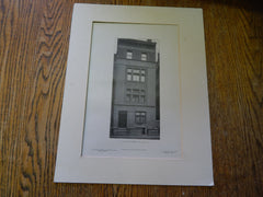 No. 21 East 33rd Street, New York, N.Y.,1905, Lithograph.