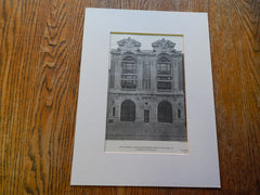 Details of Water Tower No. 3 & Hook and Ladder House No. 24, New York, NY,1902,Lithograph.