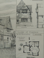 Lodge at Oakfield for B. C. Roberts, Esq. in Chester, Chesire, England, 1884. E.A. Ould