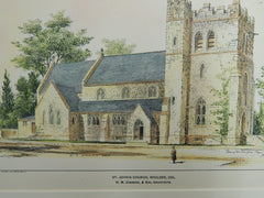 St. John's Church, Boulder, CO, 1901. Original Plan. Congdon & Son.