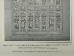 Great West Window, Proctor Hall, Graduate College, Princeton, NJ, 1914, OriginalPlan. Cram, Goodhue & Ferguson.