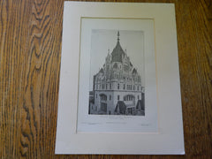 Main Tower: Broadway Tabernacle, New York, NY, 1905, Lithograph. Barney & Chapman.
